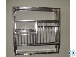 stainless steel wall mounted plate rack