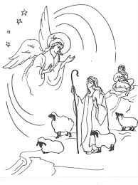 Christmas Shepherd Coloring Pages At Getdrawingscom Free For