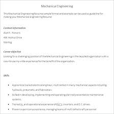 Engineering Resume Objectives Engineering Resume Objective Simple