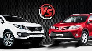 2hp: KIA Sportage VS Toyota RAV4 - YouTube