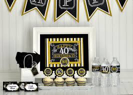 At 40 Party Decorations Ideas For A Males 21st Birthday Party Cute Birthday Gift