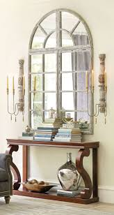 hallway table and mirror. View In Gallery Gorgeous Entryway With A Grand Chateau Window Mirror And Large Scones Hallway Table T