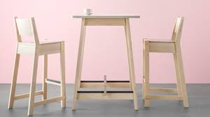 Tall bar table Outdoor Norraker Bar Table White Birch Ikea High Table Tall Table Ikea