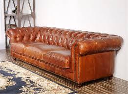 Amazon.com: Pasargad Carpets Chester Bay Genuine Leather Tufted Sofa, 3' 2