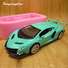 2019 3d Green Sports Car Cake Mold Silicone Mold Chocolate Gypsum