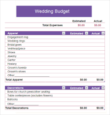 Samples Of Budget Spreadsheets Sample Church Budget Template Business