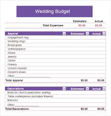 Sample Wedding Budget Spreadsheet Sample Church Budget Template Business