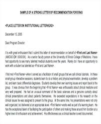 Letter Of Recommendation Example Example Of Physician Letter Of