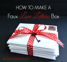 How To Make A Faux Love Letters Box | An Extraordinary Day