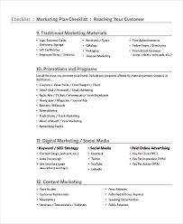 Marketing Checklist Template 12 Free Word Pdf Documents