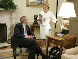 bush oval office. Nicolle Wallace With President George W. Bush In The Oval Office