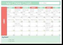 Free Printable Family Chore Chart Two Options Clean