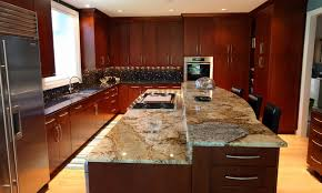 This Lovely Beige Granite Is Filled With Brown Veining And Spots Of Gray.  It Looks