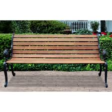 Lion Park Bench - Cast Iron Ends - 232005, Patio Furniture at ...