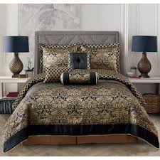 Delightful Everrouge Lyon Luxury Jacquard 7 Pcs Comforter Set