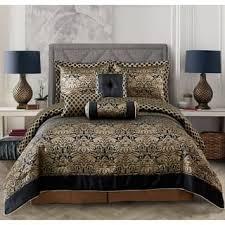 Delightful Everrouge Lyon Luxury Jacquard 7 Pcs Comforter Set