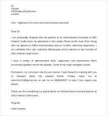Cover Letter For Office Assistant Administrative Assistant Cover