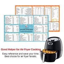 Chefman Air Fryer Cooking Chart Air Fryer Cooking Times Quick Reference Guide Airfryer