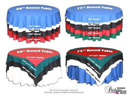 round tablecloth inch