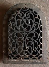 cast iron wall art antique arched register preservation sold bird