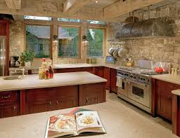 Rustic Stone Kitchen Backsplash Outofhome