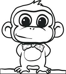 Printable Monkey Coloring Pages Free For Kids Chronicles Network