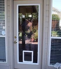 32 x 80 exterior door with pet door. doors glass 4 pets 32 x 80 exterior door with pet