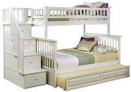 twin over full bunk bed with stairs. Columbia Staircase Twin Over Full Bunk Bed | Raised Panel Trundl With Stairs