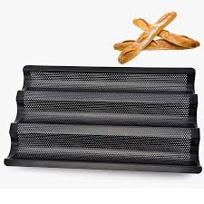 2019 3 styles baguette mold baker baking wave stainless steel baguette pan mold baking tools non stick perforated french bread pans dh0895 from sdingding