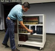 portable library shelving carts restocking heavy bookstack reference materials