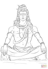 Lord Shiva coloring page | Free Printable Coloring Pages