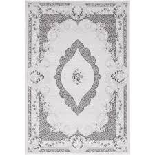 vista grey traditional patterned rug
