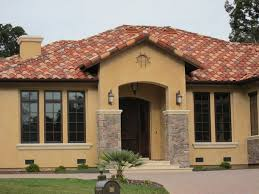 Mediterranean House Plans Exterior Colors Architectures Spanish Designs  Collection Transitional Single Story Exteriors ...