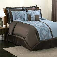 blue and brown king size comforter blanket set bedding uk full size