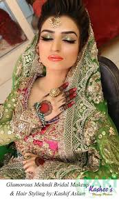 here we have stani mehndi makeup and hairstyling by artists kashif aslam anum a look to
