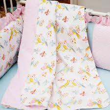 love birds crib blanket