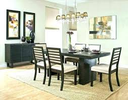 area rug under dining table no room rugs size how should an fit a