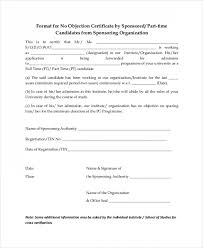Format Of Noc Certificate Noc Format Diff