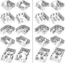 furniture configuration. Evaluation. Eighteen Participants Arranged Furniture Configuration 8