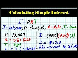 How To Calculate Simple Interest College Algebra I Prt Principal Times Rate Decimal Colma 1 3a
