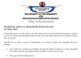 bougainville news bougainville government news presidential address to bougainville public servants