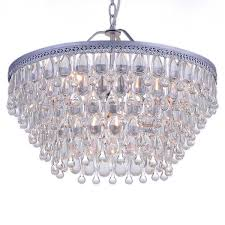 wesley crystal 6 light chandelier with clear teardrop beads free today com 16092286