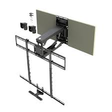 pull down tv mount.  Down MantelMount MM700 Pro Pull Down TV Wall Mount Update U0026 Stereo Intended Tv