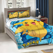 pokemon big pikachu twin full bedding comforter set kids w 2 shams