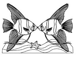 Small Picture Angelfish Couple Kissing Coloring Pages Angelfish Couple Kissing