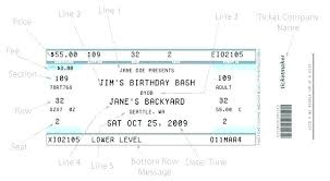 How To Make A Concert Ticket Fake Concert Ticket Template Table