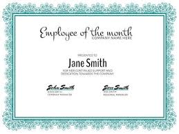 Employee Of The Month Template With Photo Personalize A Large Selection Of Employee Of The Month Templates