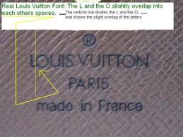Louis Vuitton Fonts Real Or Fake