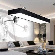 modern led pendant lights office studyroom rectangle suspended pendant lights chandelier decoration fashion led pendant light fixtures hanging