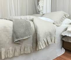 charmful style bedroom grey ruffle bedding set plum bow